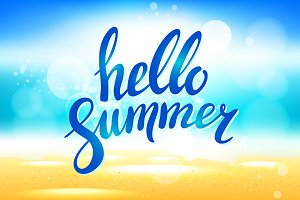 Vector hello summer background.