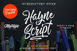Hayne Script Clean & Rough 50% Off