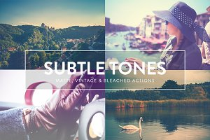 14 Subtle Tones Photoshop actions