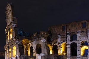 Colosseum night view, Rome.