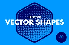 Halftone Vector Shapes - 30 Items