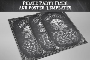 Pirate Flyers Invites Templates