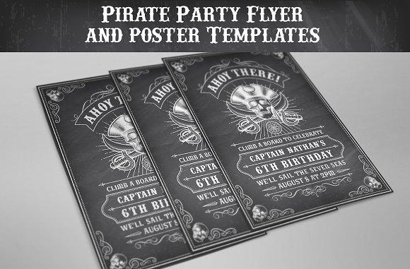 pirate flyers invites templates flyer templates creative market