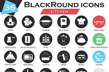 36 Kitchen tools icons set