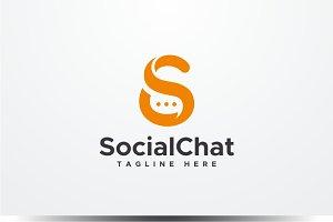Social Chat - Letter S Logo