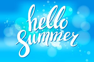 Hello to Summer vector illustration