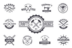 Crafts Emblems Vector Set