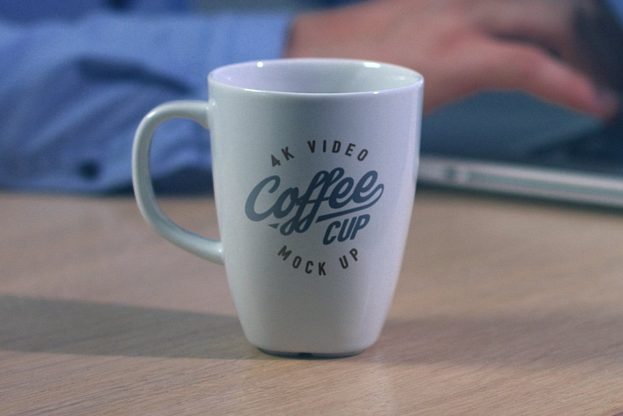 4K video coffee mug mock-up +psd in Print Mockups