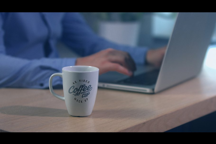 4K video coffee mug mock-up +psd in Print Mockups - product preview 1