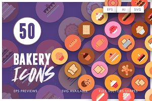 50 Bakery Icons