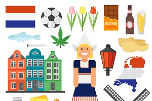 Netherlands vector set