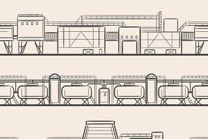 Engraving industrial landscape