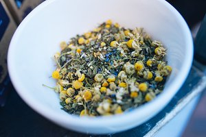 Fresh Chamomile Tea Ingredients