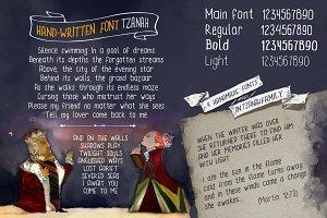 Hand Written font TZANAH