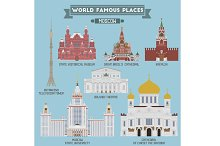 Famous Places of Moscow, Russia