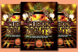 Cuban Nights Flyer Template