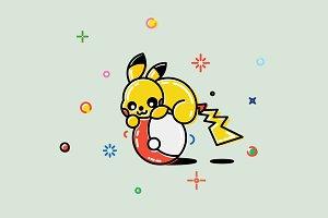 illustration Pikachu Pokemon GO