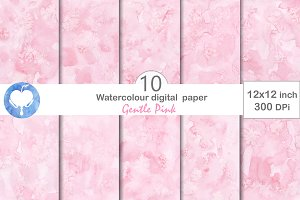 Digital Paper - Gentle Pink