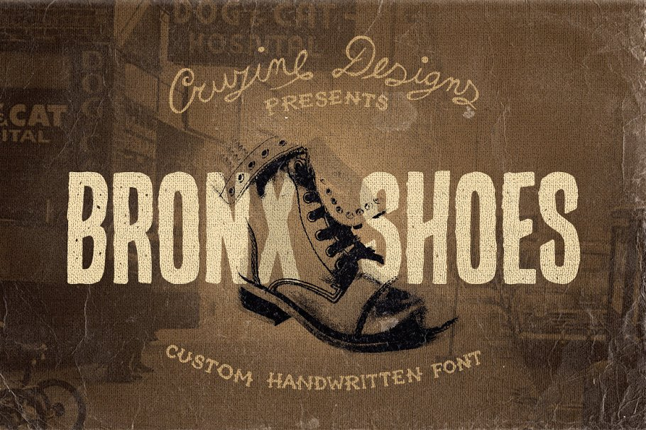 Bronx Shoes Custom Font