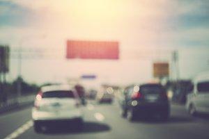Abstract blur traffic