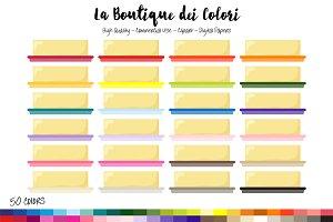 50 Rainbow Butter Clip Art