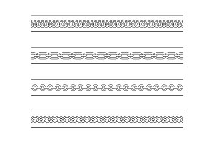 Set of chains dividers. Vector