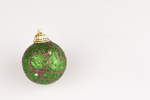 decorated bauble on white