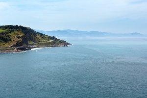 Ocean coastline view