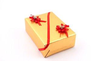 christmas greeting with gift