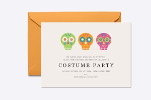 Sugar Skulls Halloween Invite