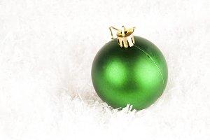 green shining bauble