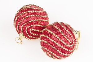 decorated red baubles