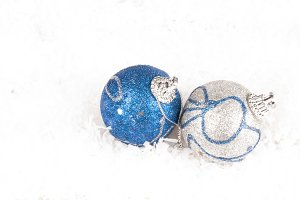 beautiful baubles on white