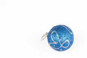 blue bauble isolated on white