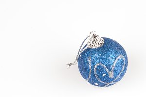 blue decorated bauble