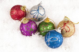 christmas colorful baubles