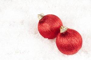 christmas bubbles isolated