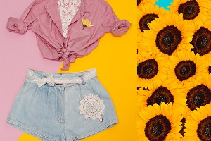 denim shorts. Country Style