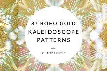 Gold Boho Kaleidoscope Patterns