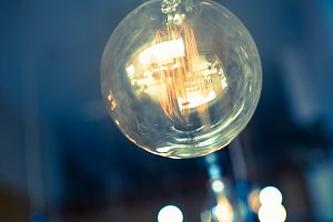 Beautiful retro luxury  light bulb