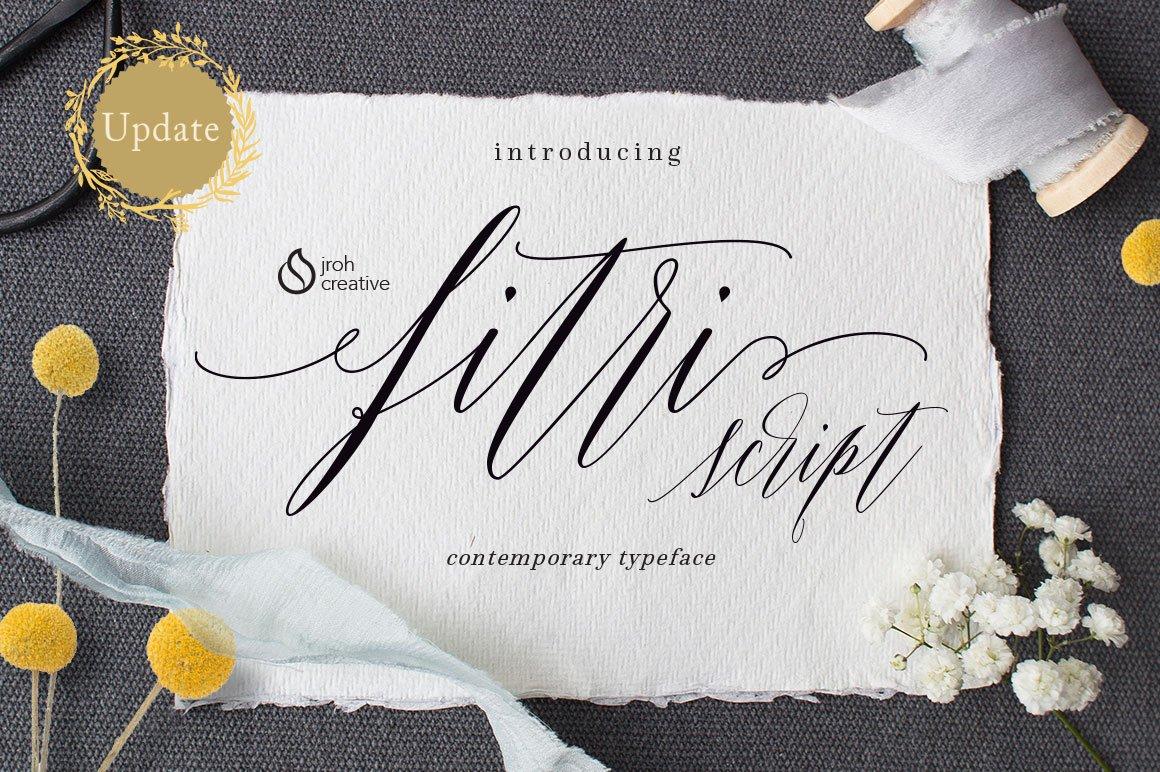 Fitri Script Fonts Creative Market Fitti Rainbow Regular S 12x12 12 Bags