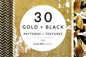 Gold + Black Patterns and Textures