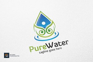 Pure Water - Logo Template