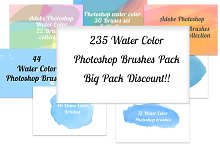 235 Water Color Brushes Big Pack