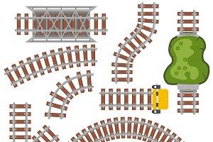Railway railroad vector