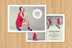 Fashion Model Comp Card -V351
