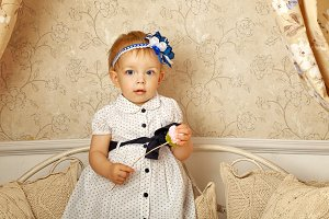 Little girl in French dress