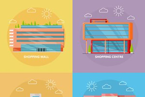 Shopping Centre Icon Set