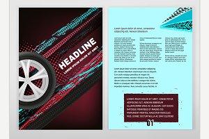 Grunge Tire Brochure Design
