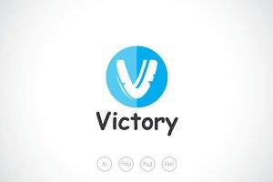 Alphabet V - Victory Logo Template